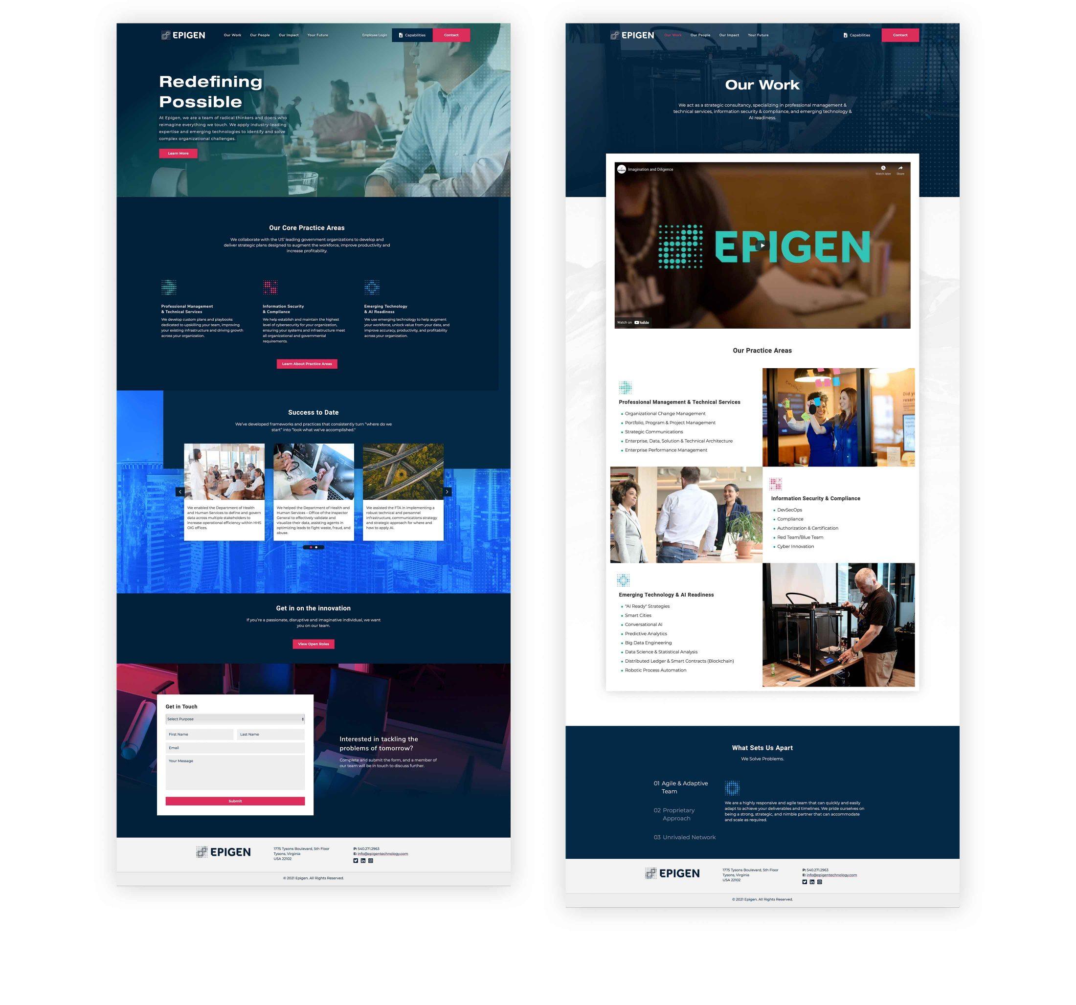 Epigen website full pages